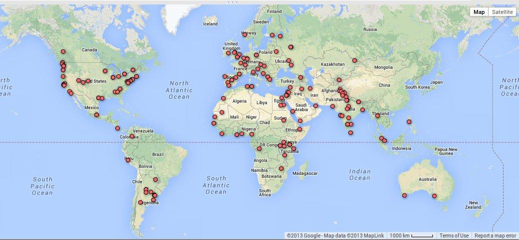 2014 applicant map